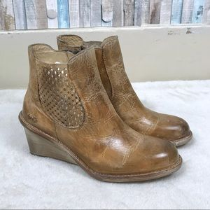 NEW Bed Stu 10 Leather Countess Wedge Ankle Boot